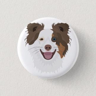 Glückliche Border-Collie Gesicht der Illustration Runder Button 2,5 Cm