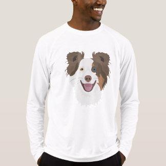 Glückliche Border-Collie Gesicht der Illustration T-Shirt