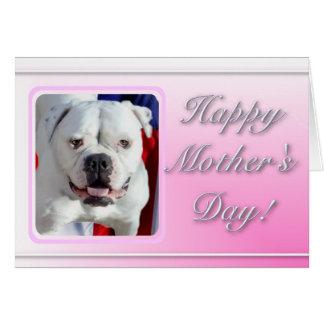 Glückliche Bulldoggen-Grußkarte der Mutter Grußkarte