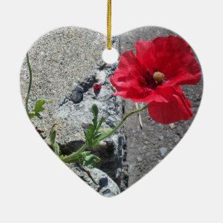Glückliche Bürgersteig-Blume Keramik Ornament