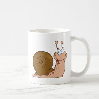 Glückliche Cartoon-Schnecke Kaffeehaferl