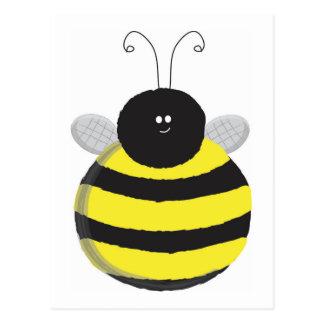 Glückliche Chubby niedliche Biene der Biene Postkarte
