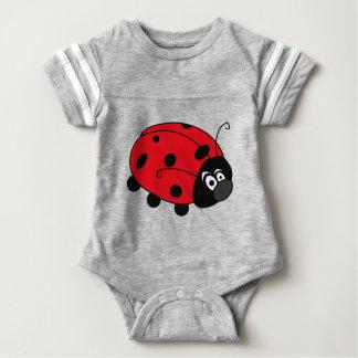 Glückliche Dame Bug Baby Strampler