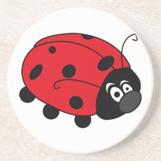 Glückliche Dame Bug Getränkeuntersetzer