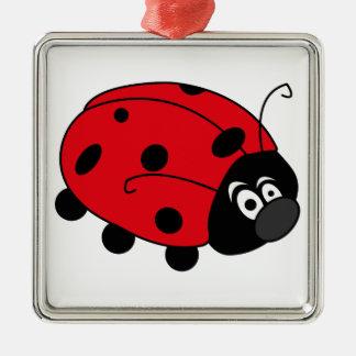 Glückliche Dame Bug Silbernes Ornament