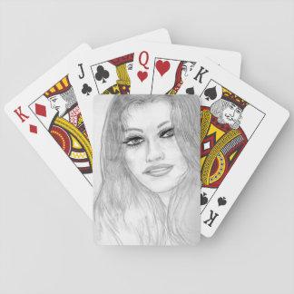 Glückliche Dame Spielkarten