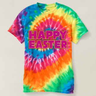 Glückliche das Ostern-gefärbte Krawatte der Frauen T-shirt