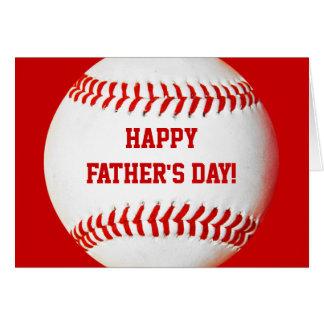 Glückliche der Vatertags-Baseballkarte Mitteilungskarte