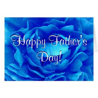 Glückliche der Vatertags-Blau-Rose Grußkarte