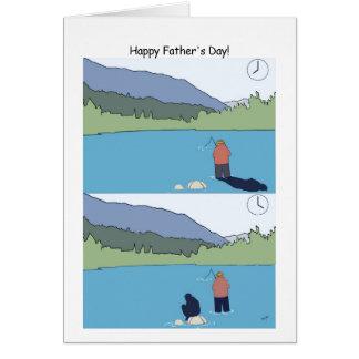 Glückliche der Vatertags-Fischen-Karte - lustiger Grußkarte