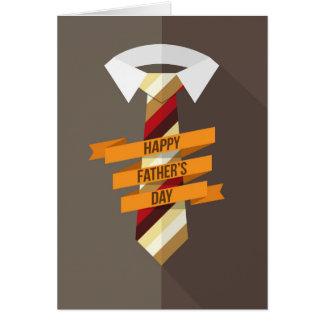 Glückliche der Vatertags-Krawatte Karte