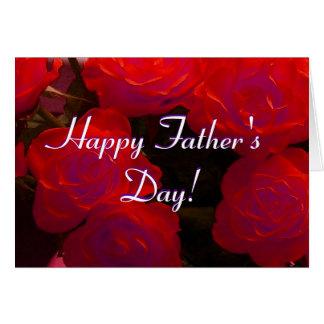 Glückliche der Vatertags-Rote Rosen Grußkarte