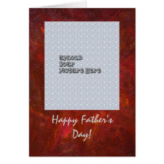 Glückliche der Vatertags-Schablonen-Karte Karte