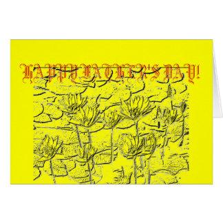 Glückliche der Vatertags-Wasserlilie-Gruß-Karte Karte
