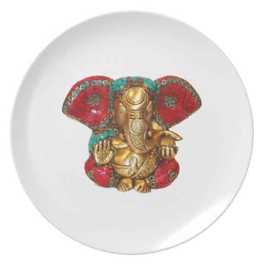 Glückliche DIWALI - Danke GANAPATI Ganesh Teller