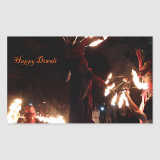 Glückliche Diwali Rechteck-Aufkleber, glatt Rechteckiger Aufkleber