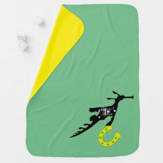Glückliche Drache-Seepferd-Baby-Decke Puckdecke