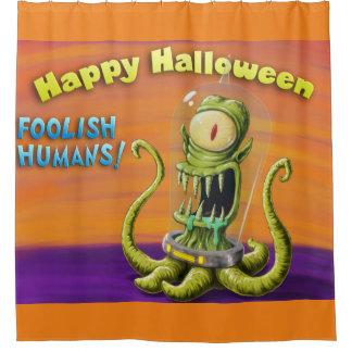 Glückliche dumme Menschen Halloweens Duschvorhang