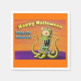 Glückliche dumme Menschen Halloweens Serviette