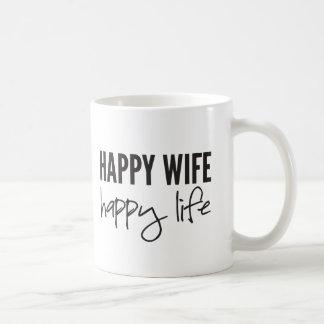 Glückliche Ehefrau-glückliches Leben Kaffeetasse