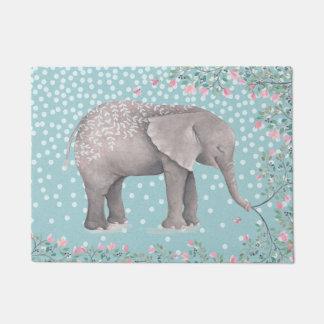 Glückliche Elefant-Aquarell-Illustration Türmatte