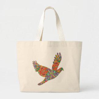 GLÜCKLICHE Engels-Vogel-Taschen-Tasche Jumbo Stoffbeutel