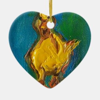 Glückliche Ente Keramik Ornament