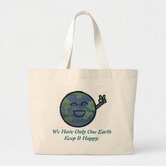 Glückliche Erde! Jumbo Stoffbeutel