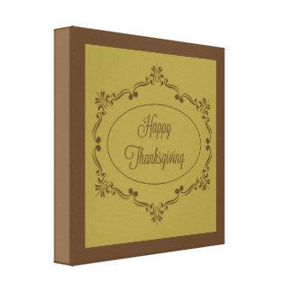 Glückliche Erntedank-Schokolade und Olive Leinwanddruck