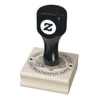 Glückliche Erntedankgummi-Briefmarke Gummistempel