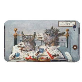 Glückliche Esel im Bett - lustige Vintage Kunst Case-Mate iPod Touch Hülle
