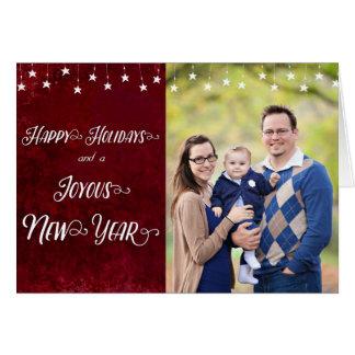 Glückliche Feiertage/freudiges neues Jahr-Foto Karte