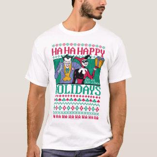 Glückliche Feiertage Joker u. Harley Quinn des T-Shirt