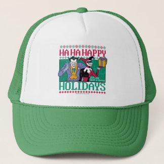 Glückliche Feiertage Joker u. Harley Quinn des Truckerkappe