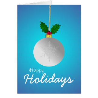 Glückliche Feiertage, ließen es schneien Grußkarte
