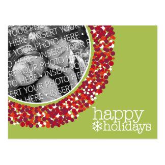 Glückliche Feiertage - WeihnachtsFoto Postkarten