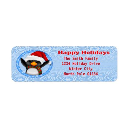 Glückliche Feiertageniedlicher Penguin