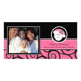 Glückliche Feiertags-einzigartiges rosa Sankt-Foto Bilderkarten
