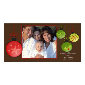 Glückliche Feiertags-einzigartiges WeihnachtenOram Photokarten