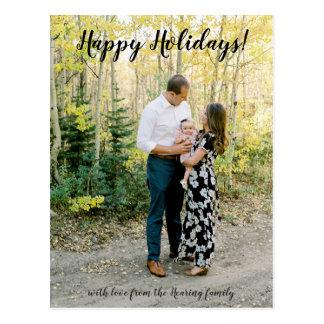 Glückliche Feiertags-Foto-Postkarte Postkarte