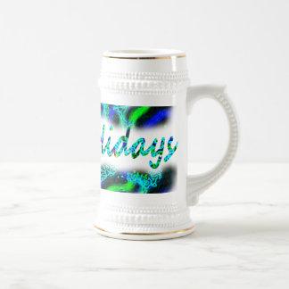Glückliche Feiertags-Tasse Bierkrug