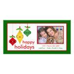 Glückliche Feiertags-WeihnachtsFoto-Karten Bildkarte