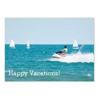 Glückliche Ferien Karte