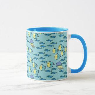 Glückliche Fische Tasse