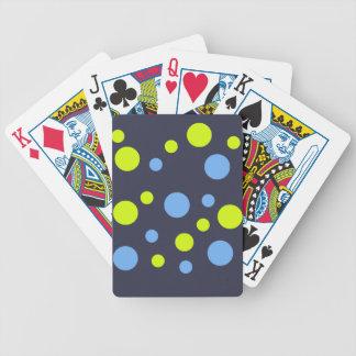 Glückliche flippige gelbe blaue Blasen Bicycle Spielkarten