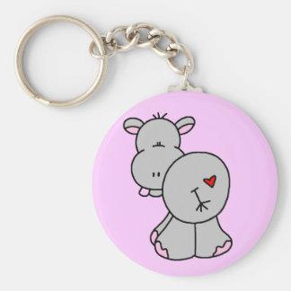 Glückliche Flusspferd-T-Shirts und Geschenke Schlüsselanhänger