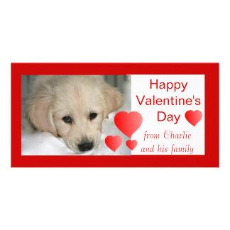 Glückliche Foto-Karten des Valentines Tageshunde Individuelle Photo Karten