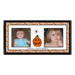 Glückliche Foto-Karten Halloweens Spiderweb