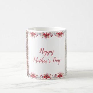 Glückliche Foto-Tasse der Mutter kundenspezifische Kaffeetasse
