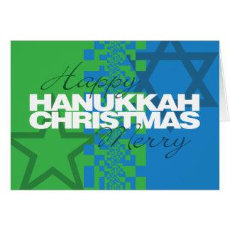 Glückliche frohe Weihnacht-Karte Chanukkas Grußkarte